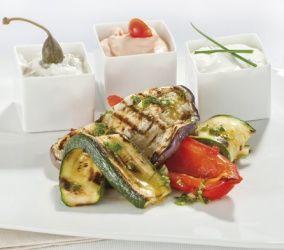 Verdure grigliate con salse al mascarpone #ricette#granarolo