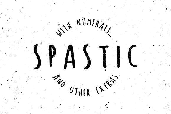 Spastic - Hand Drawn Font by Joshua Fortuna on @creativemarket
