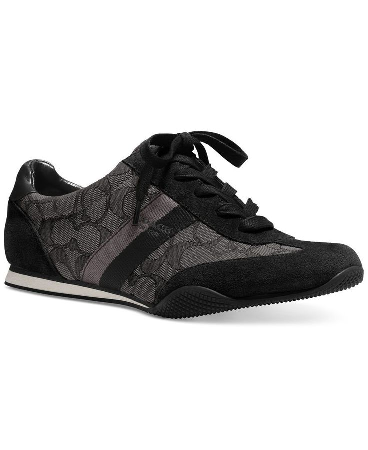 Waiting for my black sneakers to arrive :) COACH Kelson Lace-Up Sneakers - COACH - Shoes - Macys