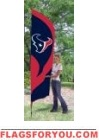 Texans Tall Team Flag 8.5' x 2.5'