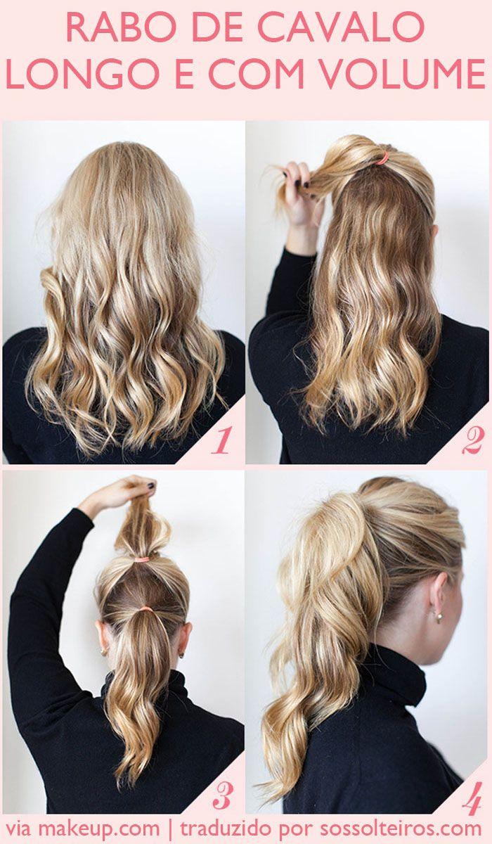 penteados rabo de cavalo volumoso - para cabelos loiros