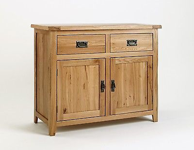 #Small oak sideboard solid wood #country rustic drawer #dining room furniture doo,  View more on the LINK: 	http://www.zeppy.io/product/gb/2/322124020370/
