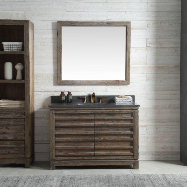 48 Inch Distressed Wood Bathroom Vanity Moon Stone Countertop Wood Bathroom Stone Countertops Wood Sink