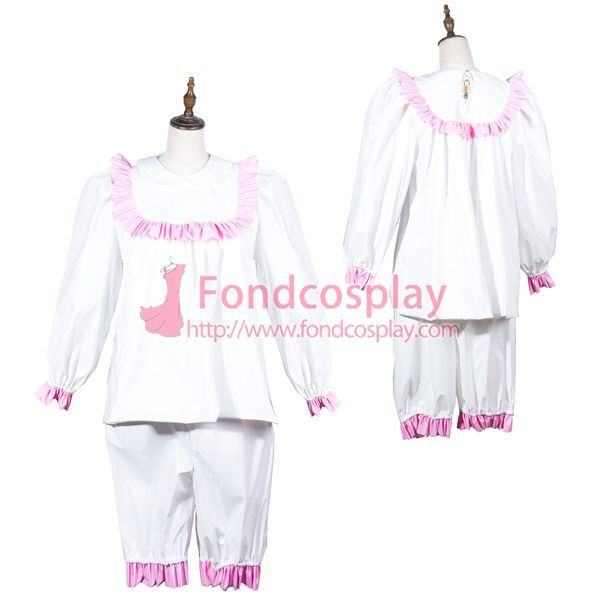 Sissy Maid Pvc Shirt And Pants Lockable Uniform Costume Tailor-Made[G3804] - Sissy Maid Uniform