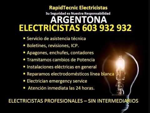 Electricistas ARGENTONA 603 932 932 Baratos