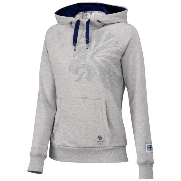 Team GB Women's Hoodie, Grey (20 BRL) ❤ liked on Polyvore featuring hoodies, sweatshirt, tops and jackets