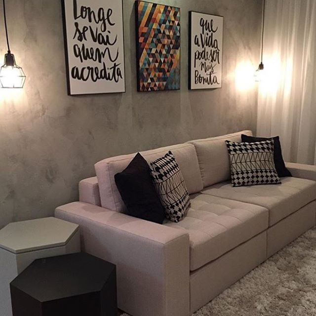 """415 Likes, 12 Comments - Estofados WG + WG Design (@estofadoswg) on Instagram: """"Um estar cheio de arte e aconchego. Sofá by WG. #architecture #decoration #living #pic #art…"""""""