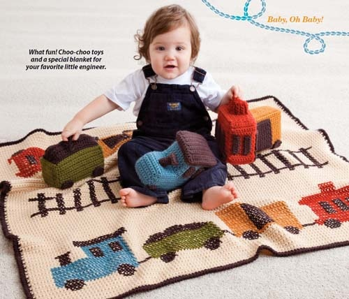 Love this train blanket and toys