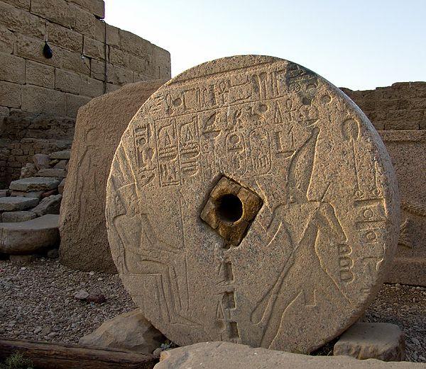 *Grinding stone, Dendera Temple, Egypt by chrisjohnbeckett