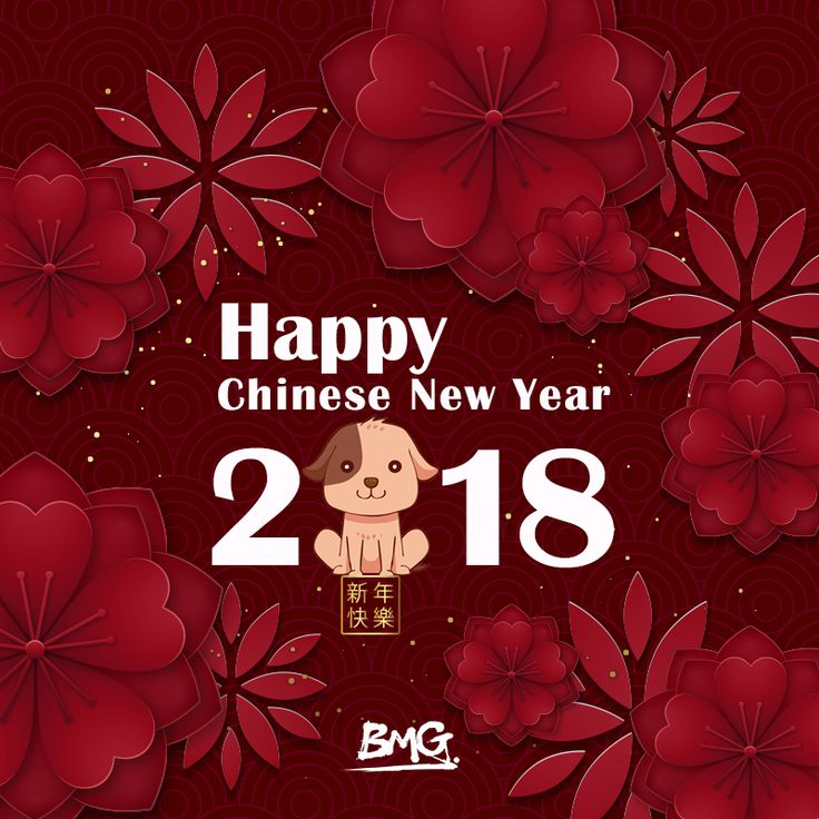 The BMG family wishes you a happy New Year. May the Year of the Dog bring you love, health, and great success!   #chinesenewyear #lunarnewyear #yearofthedog #bestwishes #bmgthoughts