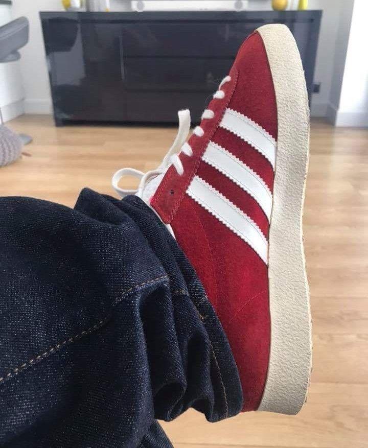 West German vintage Gazelles on feet (With images)   Adidas