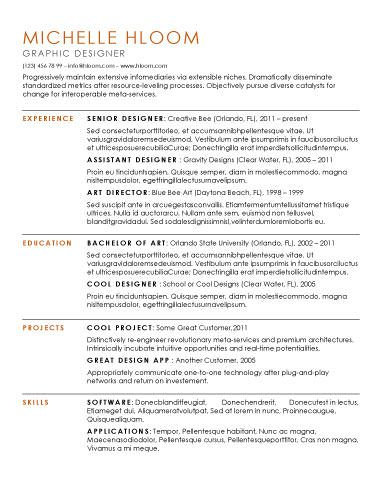 substantial free resume template by working girl