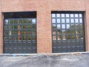 Replacing the glass around the bottom of a commercial door with solid panels is safer and can provide an attractive complexity to the door.