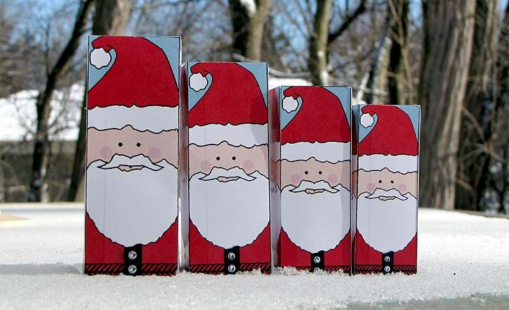 Christmas Paper Crafts: Nesting Santa Dolls | Craft Jr.