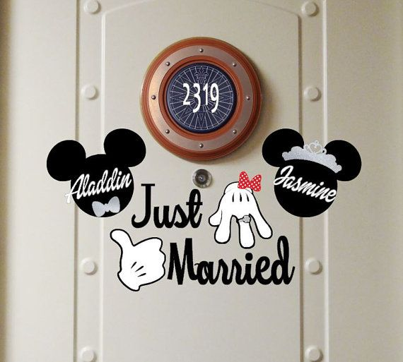 Personalized Just Married  Disney Cruise Magnets by nickandjojo
