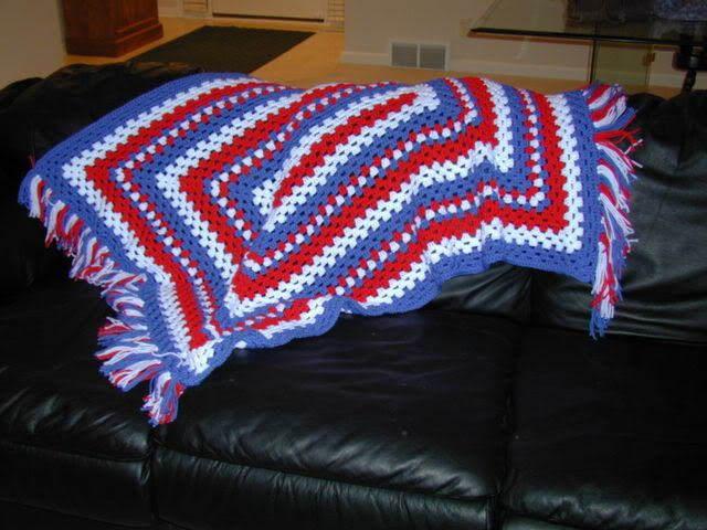 Crochet Patterns Rectangle : Rectangular Granny Afghan Free Crochet Pattern ...