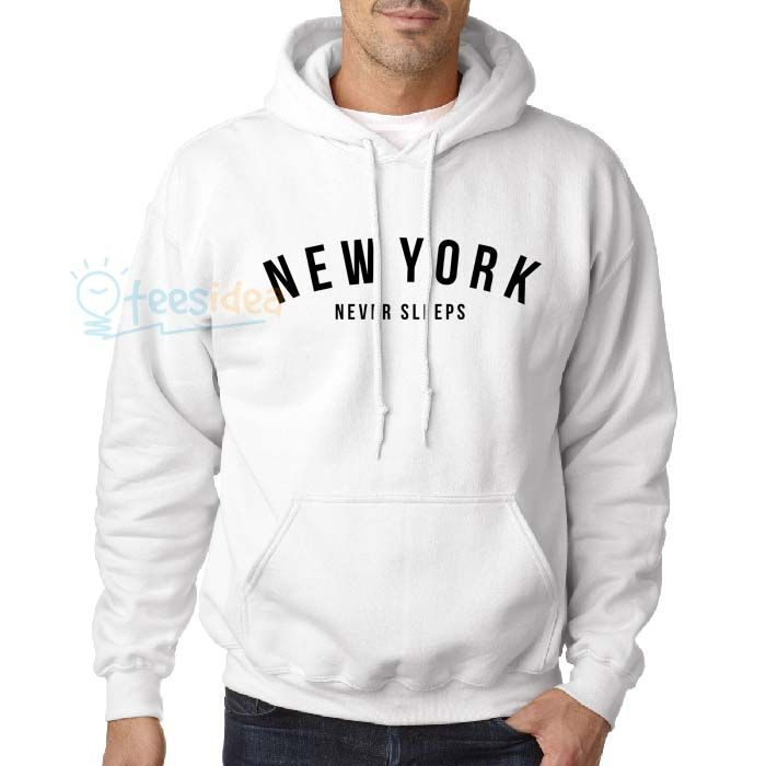New York Never Sleeps Unisex Adult Hoodie - Get 10% Off!!! - Use Coupon Code 'TEES10'
