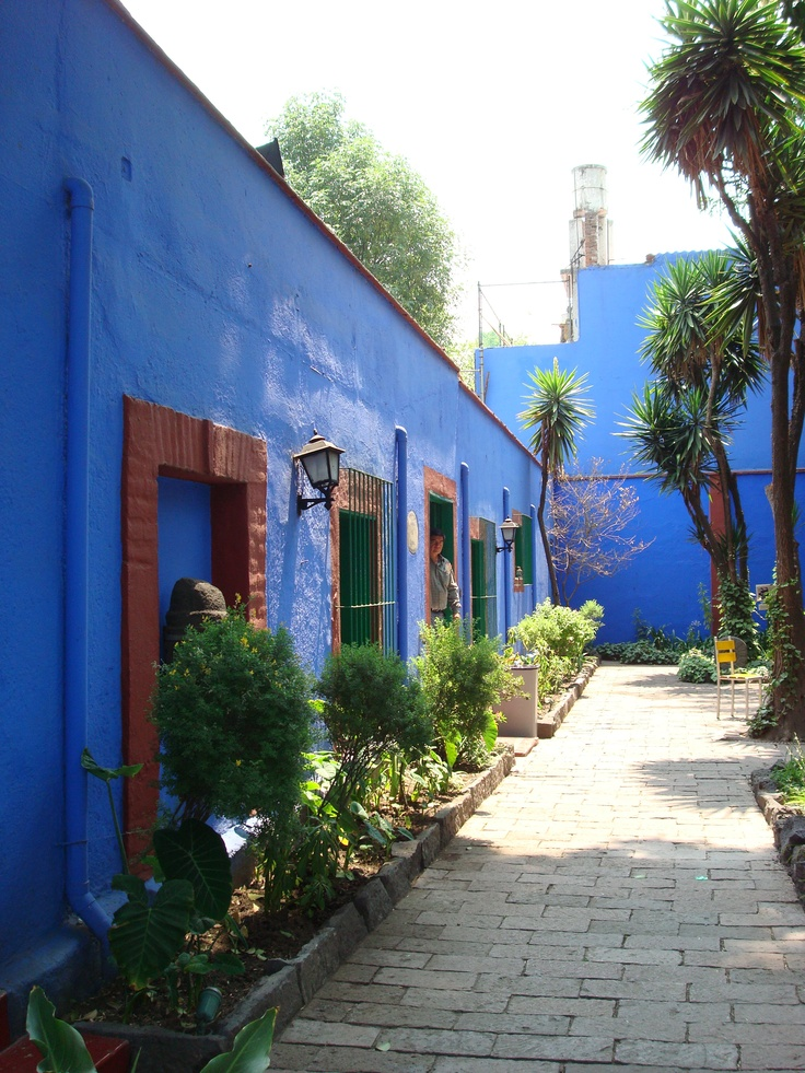 """The """"Blue House"""" Coyacan, Mexico. Frida Kahlo's childhood home and later the residence of Frida and Diego Rivera. I visited in January, 2008!"""