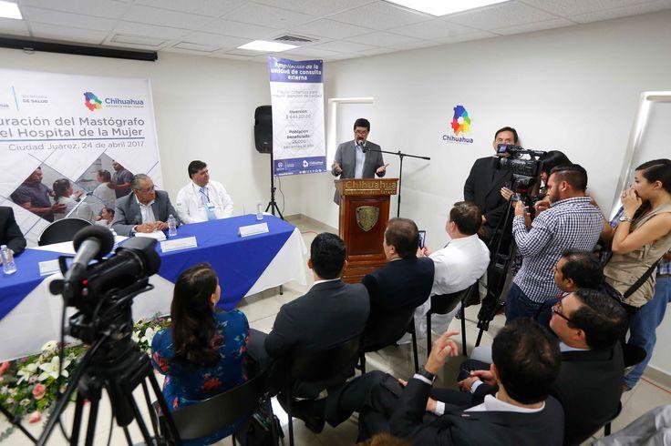 Inaugura gobernador mastógrafo y área de consulta externa