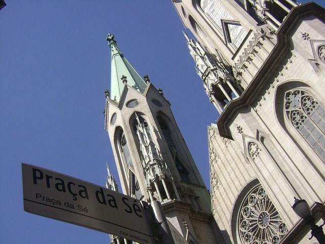 Cathedral in Sao Paulo, Brazil - South America's Biggest City- Sao Paulo Brazil