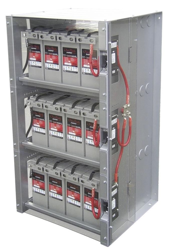 Safe Room Feature-Battery Bank for Emergency Power