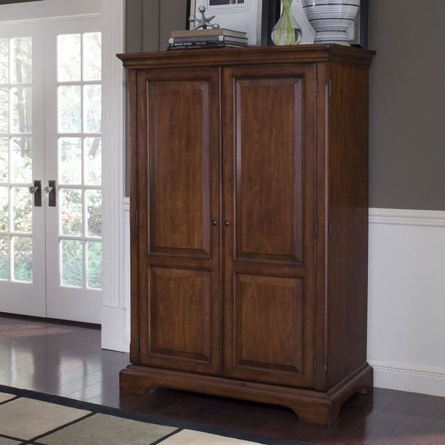 Riverside Furniture Cantata Computer Armoire traditional-armoires-and-wardrobes