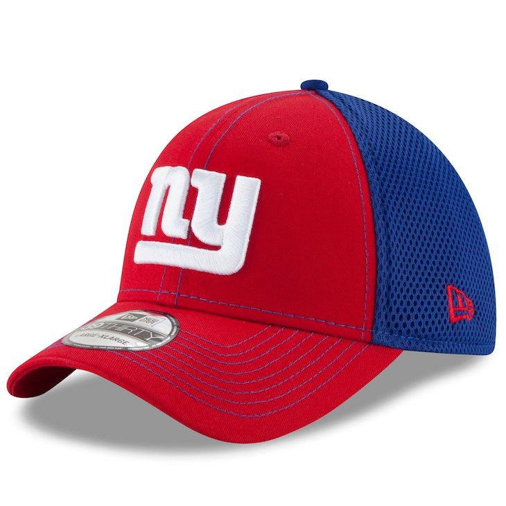 Men s New York Giants New Era Red Royal Team Front Neo 39THIRTY Flex ... 7e8dc9d21