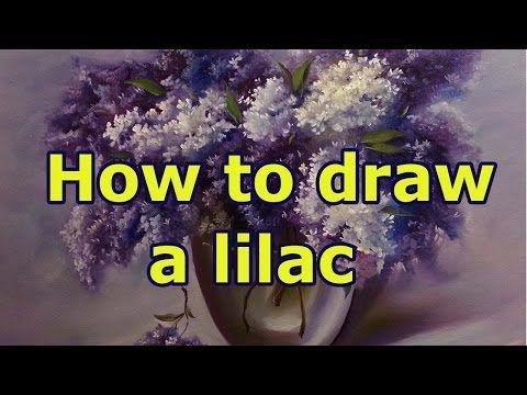 Как написать сирень. Полный урок. How to draw a lilac. - YouTube