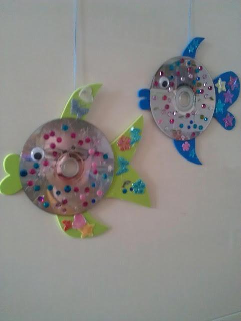 Oude cd's worden visjes.