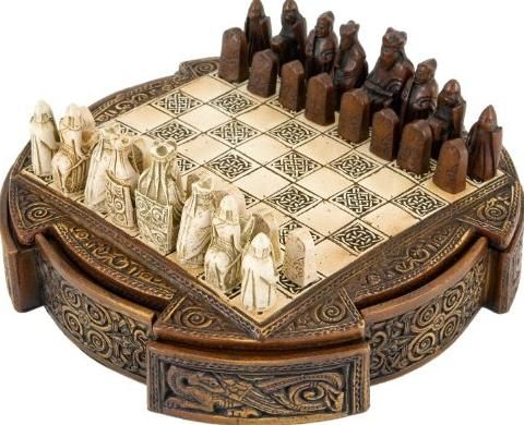 Furniture, The Breathtaking Design Of Unique Chess Pieces With Brown Color  And Luxury Style Of