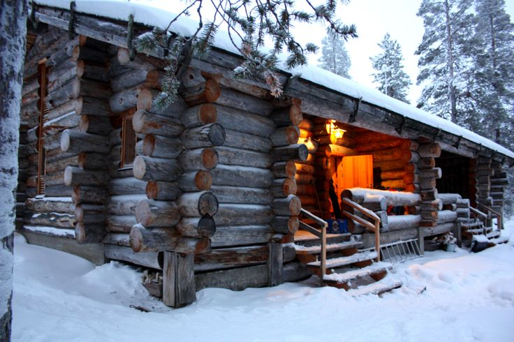 a log cottage in Levi, Finland