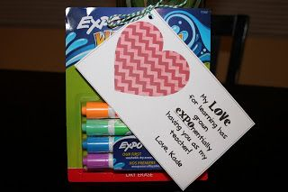 """Expo Markers """"I Grow EXPOnentially in Your Class"""" Valentine Teacher Gift"""