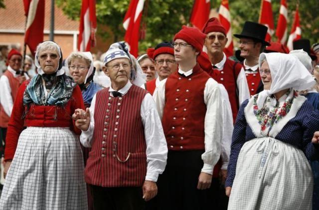 Denmark - People (Folk dancers festival in Nyborg, Denmark.