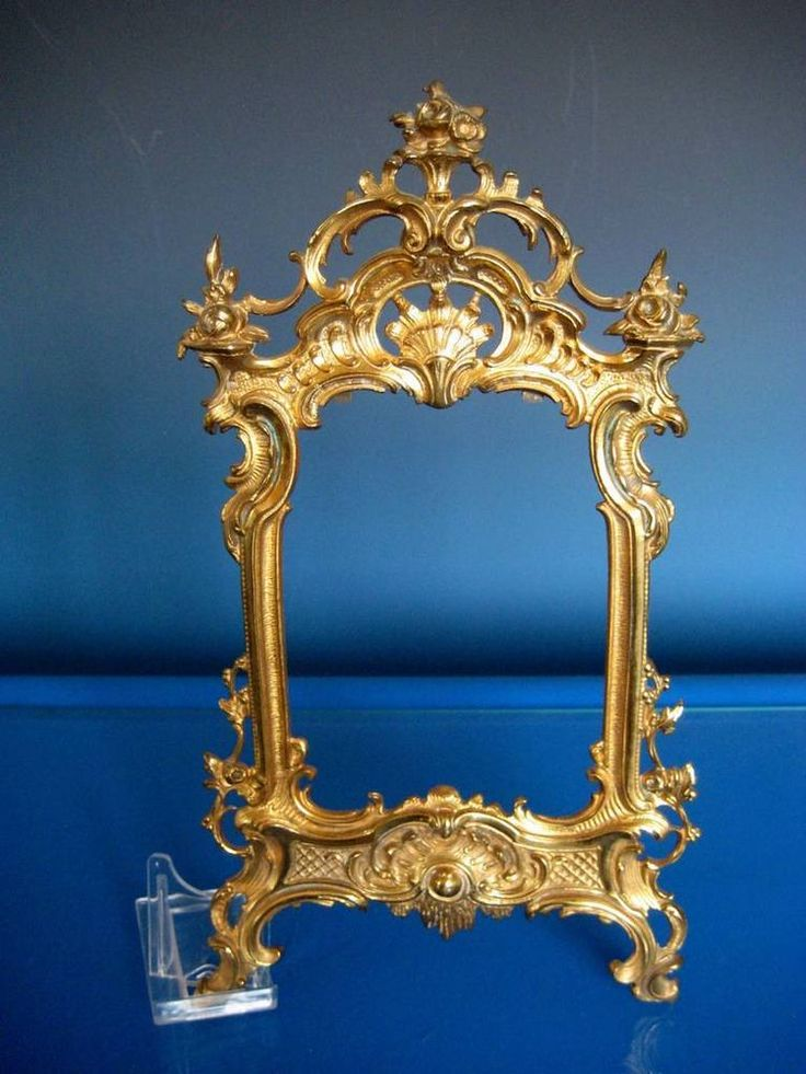 Antique Victorian French Ornate Ormolu Rococo Gold Picture