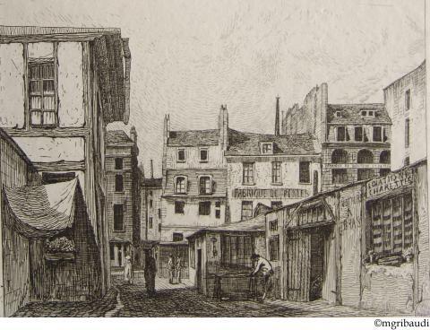 Paris 2e - «Cour de la Trinité – rue Greneta» vers 1845
