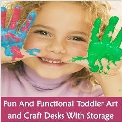 Children get so many toys that it is nice to give them something that has true value and will promote creativity and imagination. A toddler art desk...