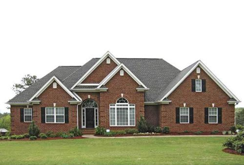 Exterior Traditional Brick Ranch