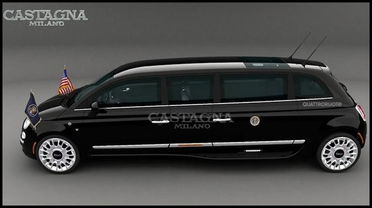 Fiat 500 Limousine by Castagna Milano : Une grande petite limousine ... I located this kind of incredible limo. See more on the websites