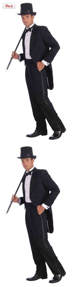 Forum Vintage Hollywood Tuxedo Tail Coat, Black, One Size, Put on a little extra style this year with this classic and classy look from forum, look to forum novelties for all of your halloween, luau, christmas, mardi gras, and st. Patrick's day supplies, if i..., #Apparel, #Men
