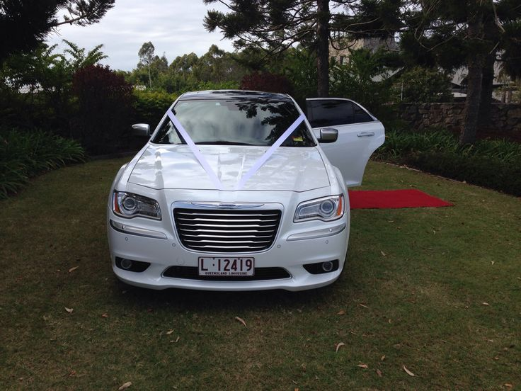 Chrysler 300C New Model in Pearl White with a Black Roof