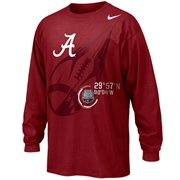 Nike Alabama Crimson Tide 2012 National Championship Football Target Long  Sleeve T-Shirt - Crimson