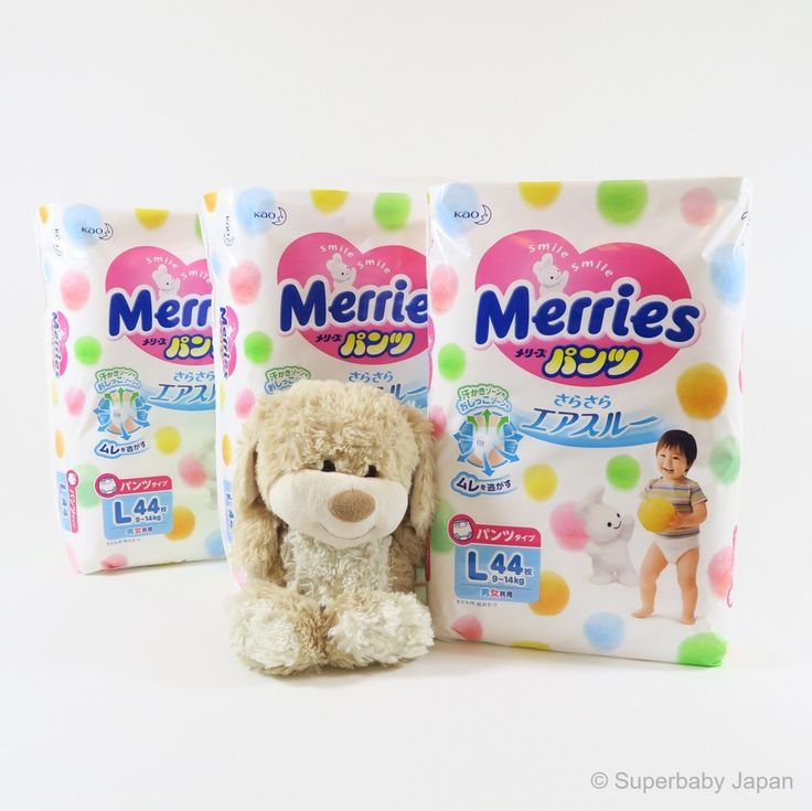 Superbaby Japan - Merries nappy pants - Large - 132 pieces (3 pack carton)
