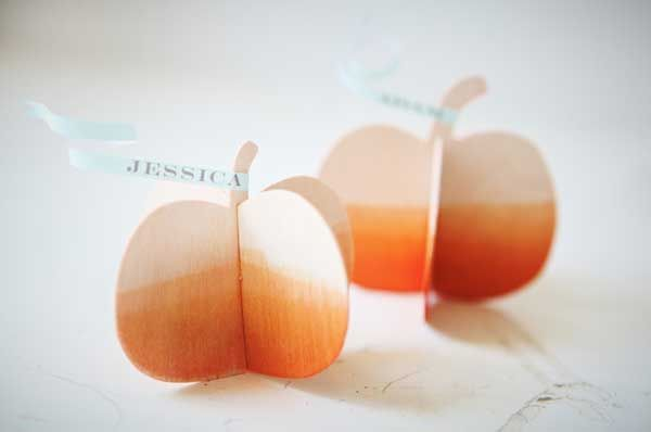 place card holders - instructions