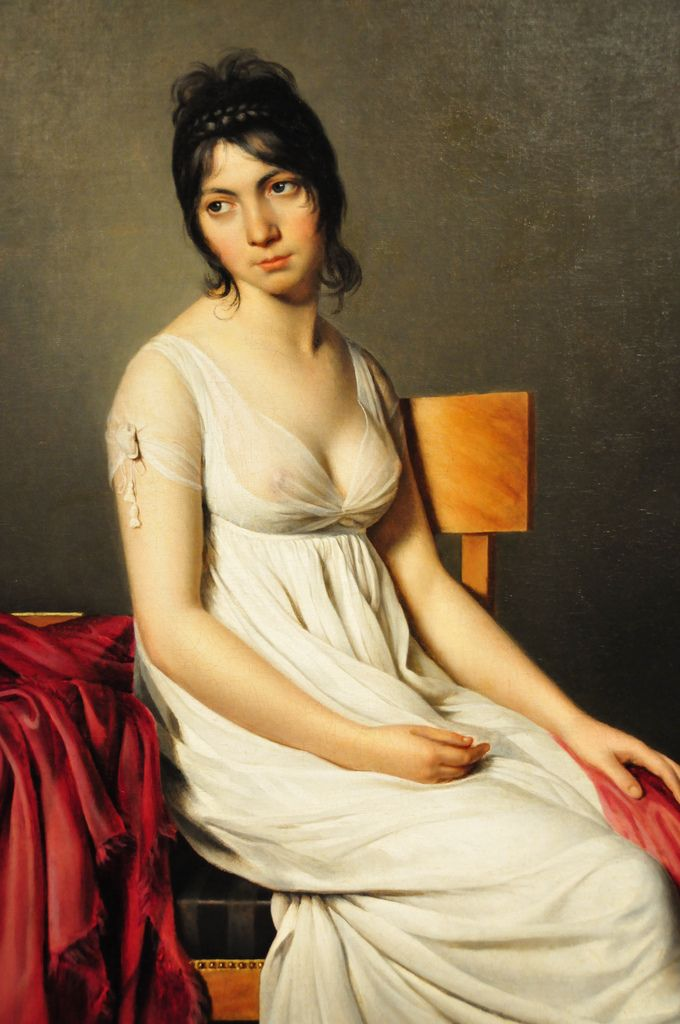 Jacques-Louis David - Portrait of a Young Woman in White at National Art Gallery Washington, DC