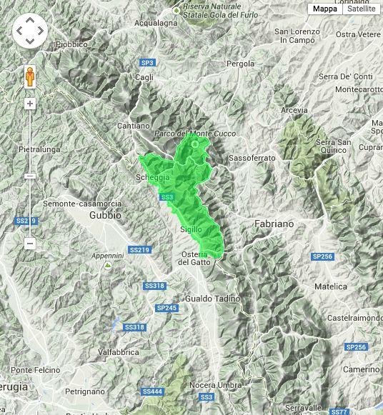 Il Parco del Monte Cucco su Google Earth.   The The Park of Monte Cucco on Google Earth. #AltaUmbria #Italy