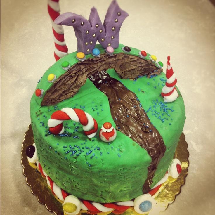 Willy Wonka Cake! Full of Chocolate!