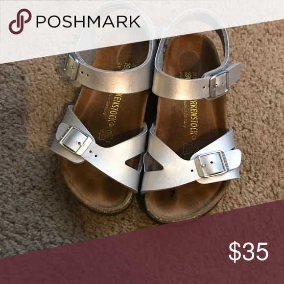 Girls Birkenstock Girls Birkenstocks bought off of here and my Daughter couldn't wear them so from previous description they were only worn several times in good condition Birkenstock Shoes Sandals & Flip Flops