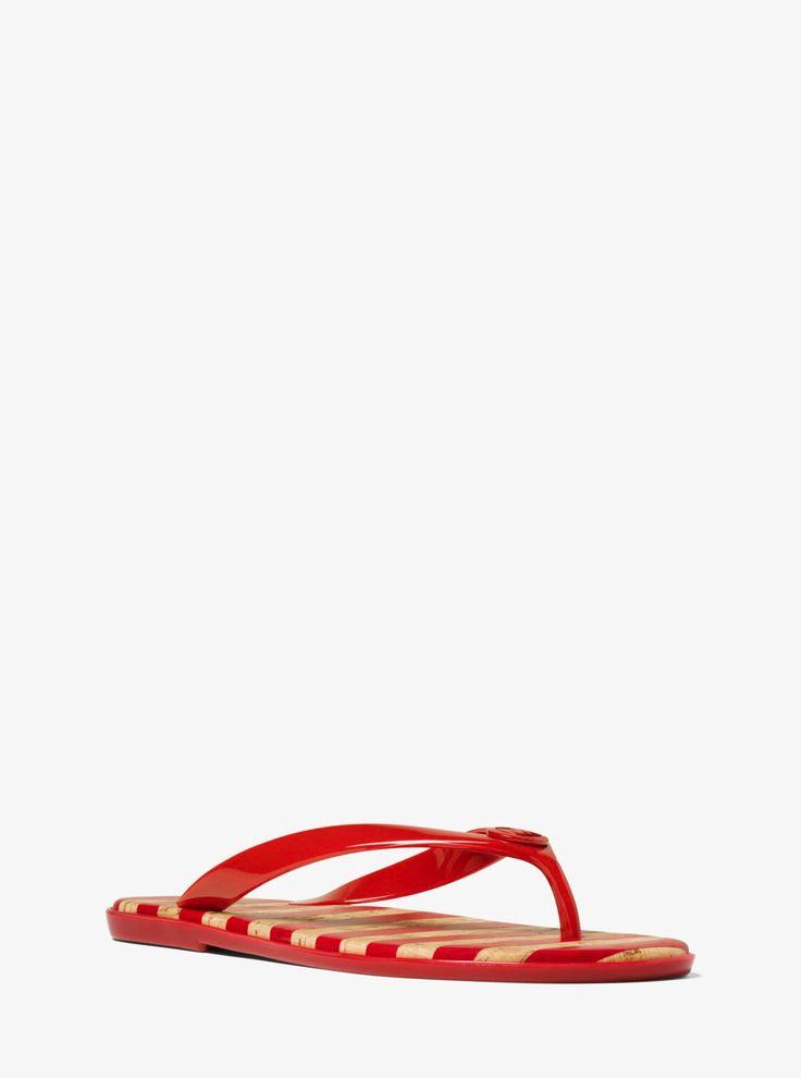 MICHAEL KORS Jet Set Jelly Flip-Flops. #michaelkors #shoes #
