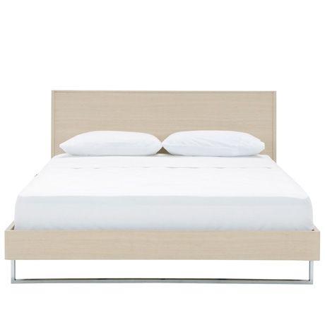 Freedom Furniture -  Mondrian Queen Bed in Italian Oak  $599