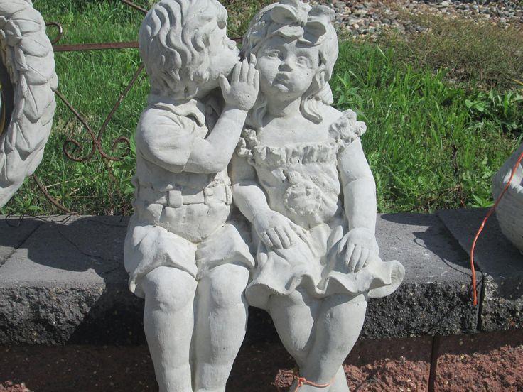 Whispering Boy And Girl · Concrete Garden StatuesBoys ...